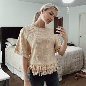 Zara Fringe Top